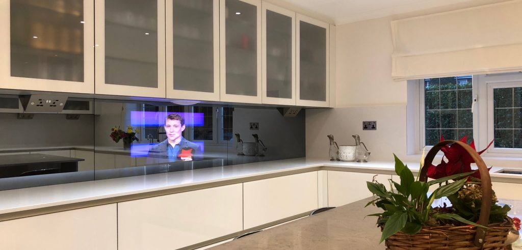 32 Mirror Tv In A Kitchen Splash Back