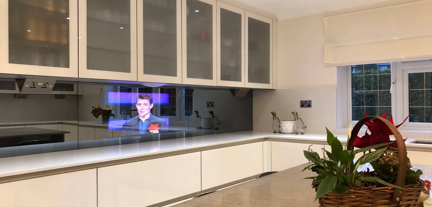 32 Mirror Tv In A Kitchen Splash Back Mirror Tv Company